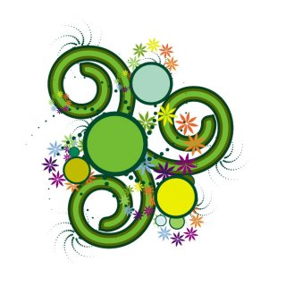 Floral Stock Swirl Free Vector