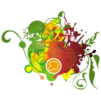 Flourish Grunge Design Free Vector