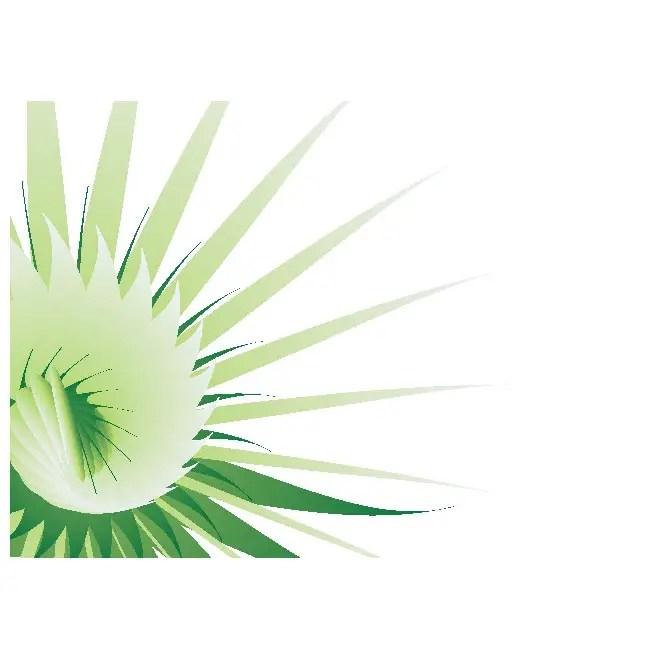 Flower Green Background Free Vector
