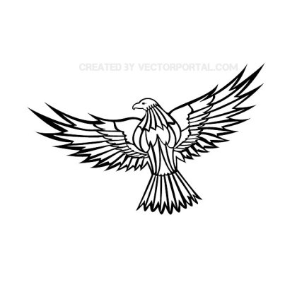 Flying Eagle Clip Art Free Vector