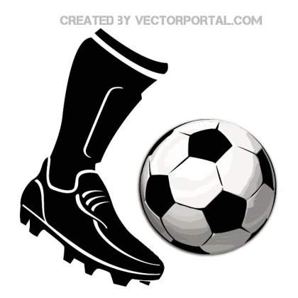 Football Boot and A Ball Image Free Vector