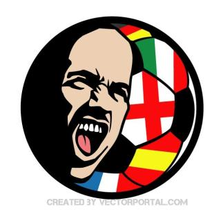 Football Fan Illustration Free Vector