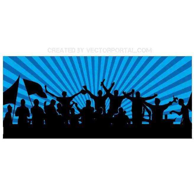 Football Fans Banner Free Vector