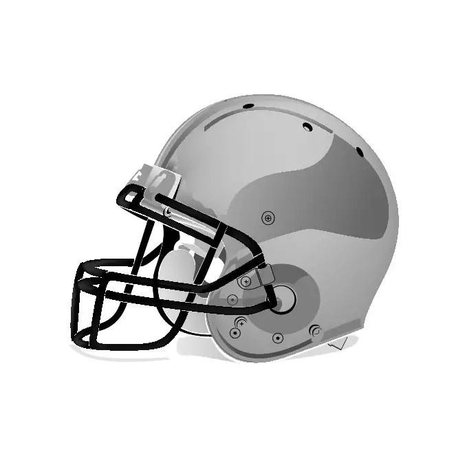 Football Helmet Free Vector