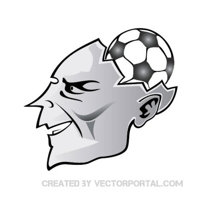 Football in My Mind Free Vector