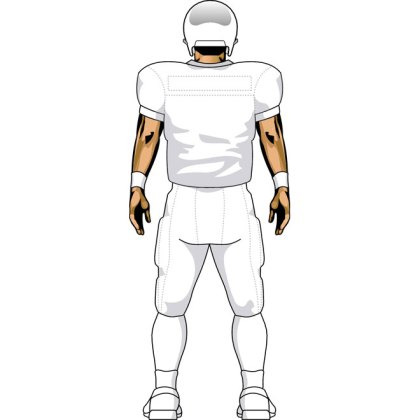 Football Nfl Player Back Free Vector