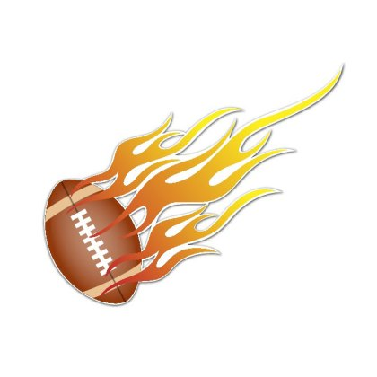 Football on Fire Image Free Vector