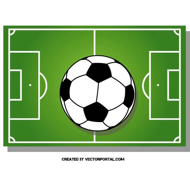 Football Pitch Image Free Vector