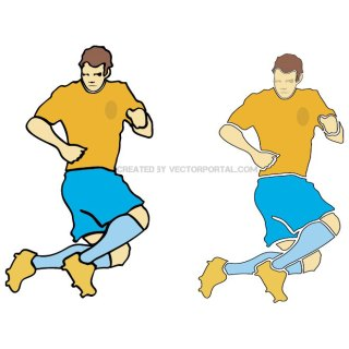 Football Player 3 Free Vector