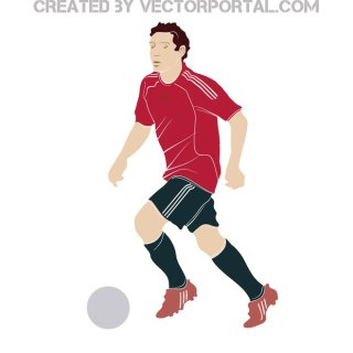 Football Player Clip Art Free Vector
