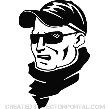 Football Supporter Portrait Free Vector