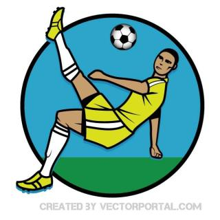 Footballer Graphics Free Vector