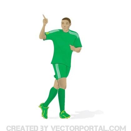 Footballer Image Free Vector