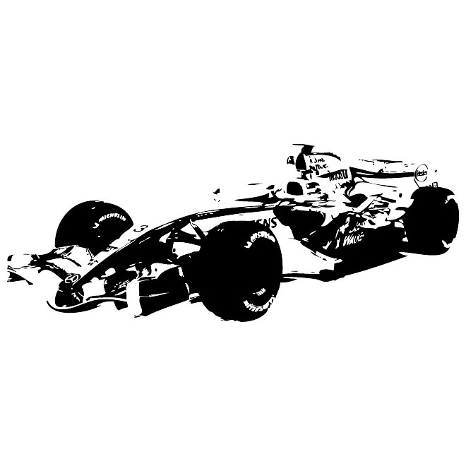 Formula 1 Vehicle Graphics Free Vector