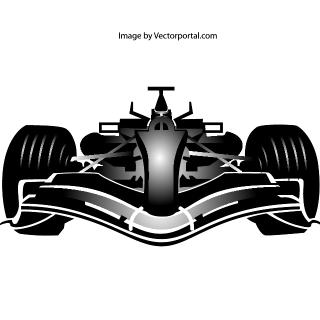 Formula One Car Image Free Vector