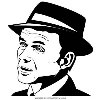 Frank Sinatra Portrait Free Vector