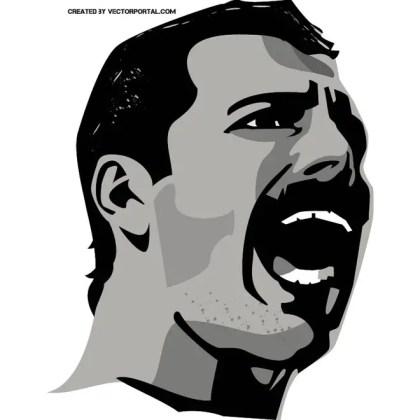 Freddie Mercury Image Free Vector