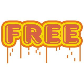 Free Sticker 2 Free Vector