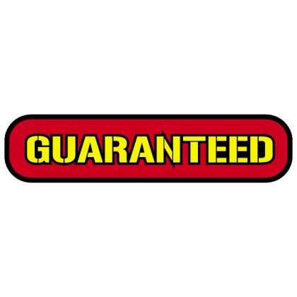 Free Sticker Guaranteed Free Vector