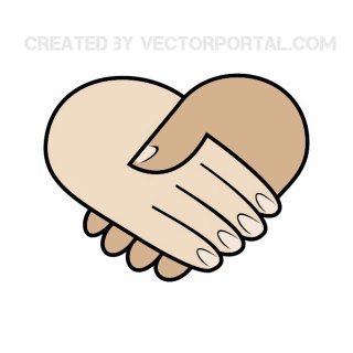 Friendship Hands Free Vector