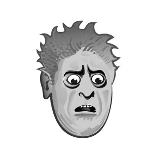 Frightened Face Free Vector