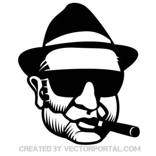 Gangster Portrait Free Vector