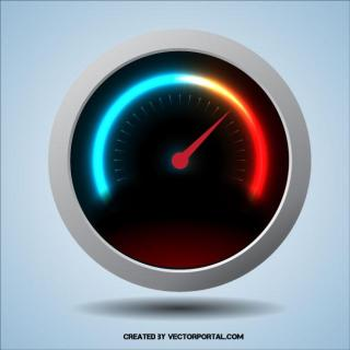 Gauge Illustration Free Vector