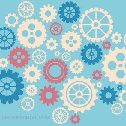 Gear Wheels Graphics Free Vector