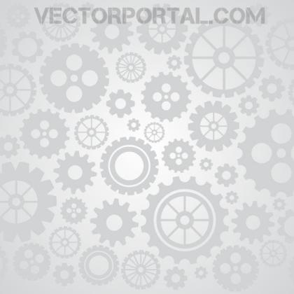 Gears and Wheels Illustration Free Vector