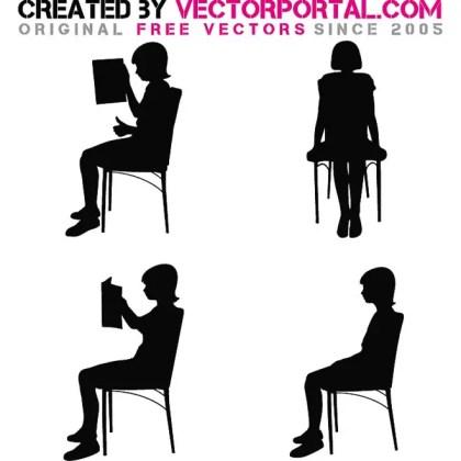 Girl Silhouette Free Vector