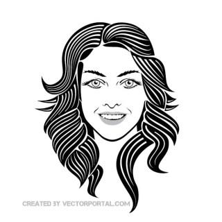 Girl Smiley Face Image Free Vector