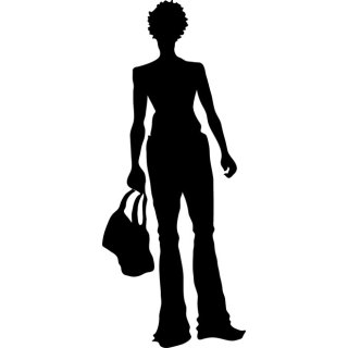 Girl with Bag Free Vector