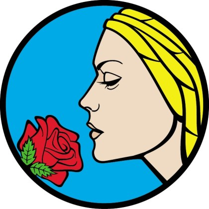 Girl with Rose Flower Free Vector