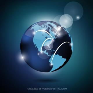 Globe Map Graphics Free Vector