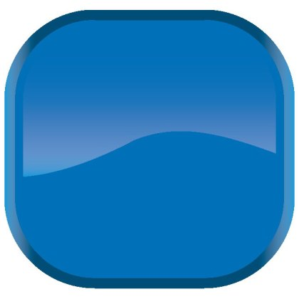 Glossy Blue Button Free Vector