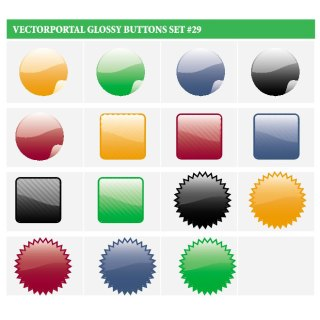 Glossy Buttons Free Set Free Vector