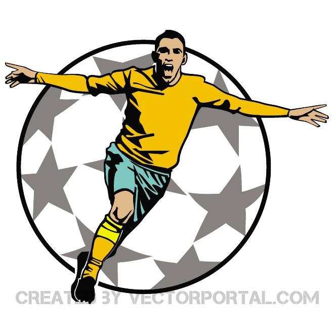 Goal Celebration Clip Art Free Vector