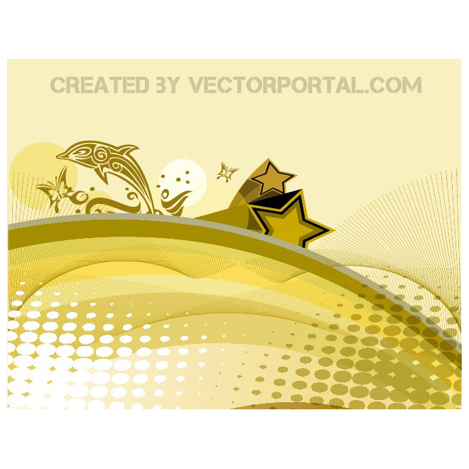 Gold Abstract Background Free Vector
