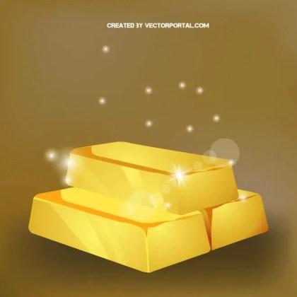 Gold Bars Graphics Free Vector