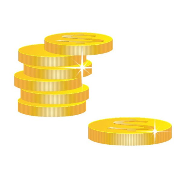 Golden Coins Clipart Free Vector