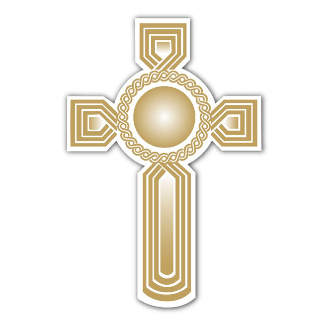 Golden Cross Image Free Vector