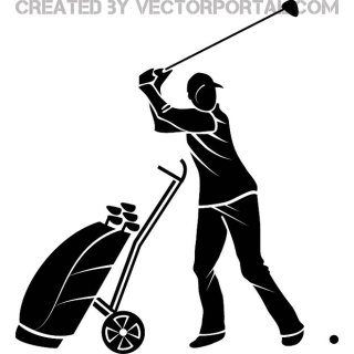 Golf Player Image Free Vector