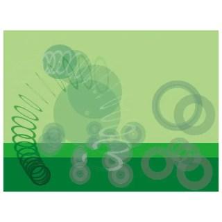 Green Abstract Circles Free Vector