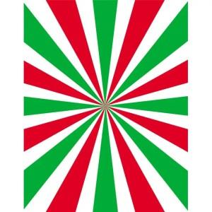 Green and Red Beams Retro Free Vector