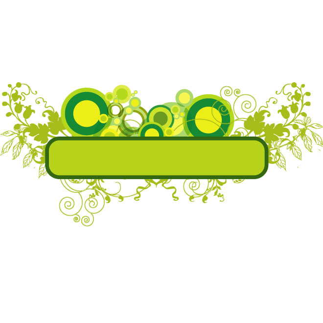 Green Banner with Circles Free Vector