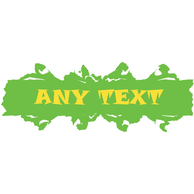 Green Banner with Floral Frame Free Vector