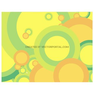 Green Bubbles Background Free Vector