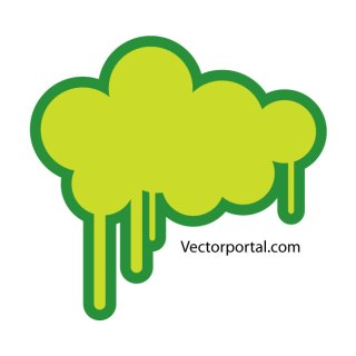 Green Cloud Drips Free Vector
