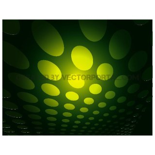Green Dots on Dark Green Background Free Vector