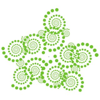 Green Dotted Swirls Free Vector